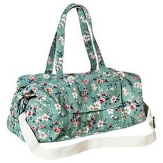Mossimo Supply Co Fl Weekender Duffle Handbag With Removable Shoulder Strap Mint