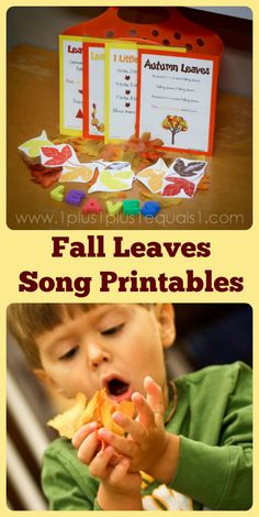 Something Special ~ Music Time…Fall Leaves Songs - 1 Plus 1 Plus 1 Equals 1 Fall Preschool Activities, Thanksgiving Preschool, Preschool Music, Teaching Activities, Teaching Music, Teaching Ideas, Play Based Learning, Learning Centers, Fall Coloring Pages