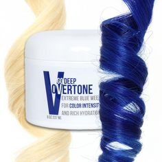 You want deep blue hair? Use this color depositing conditioner to keep your blue hair dye fresh or to color your hair blue at home!