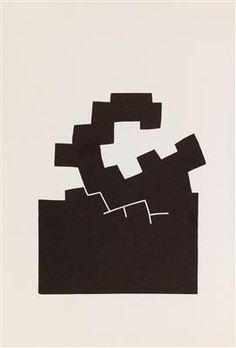 Eduardo Chillida * Action Painting, Footprints, Various Artists, Amazing Art, Composition, Sculpture, Black And White, Logos, Drawings
