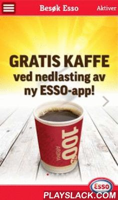 Esso  Android App - playslack.com , Esso Norges app for bensinstasjonskunder gir noe for hele familien på veien, med blant annet muligheten til å finne bilrekvisita til din bil, gode tilbud og spill for barna.  Nå kan du registrere deg som bruker og motta personlige og unike tilbud basert på din lokasjon og været der du er. Alle som laster ned eller oppgraderer appen mottar tilbud om en gratis kaffe! Digitale stempel overføres ved oppgradering. Hovedfunksjoner: * 100% Veimat-meny - 100%…