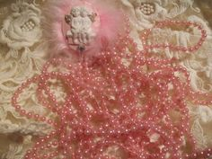 Pink   Pearls  Five  Yards by ShoppeLaFluer on Etsy, $3.00