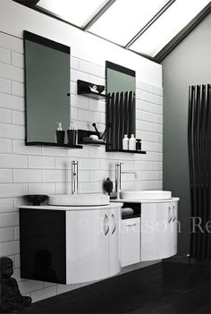 Everyone would love to achieve a relaxing and peaceful bathroom, so let us help you accomplish it. Even Buddha is chilling in the corner of this one. http://www.victorianplumbing.co.uk/Hudson-Reed-Carbon-Twin-Furniture-Pack-Black-White-FCA002.aspx