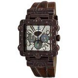 "JBW-Just Bling Men's JB-6215-J ""Phantom"" Brown Chronograph Leather Diamond Watch Reviews - JBW-Just Bling Men's JB-6215-J ""Phantom"" Brown Chronograph Leather Diamond Watch    Highest Standard Quartz Chronograph MovementDiamond accented bezel: 20 roun"