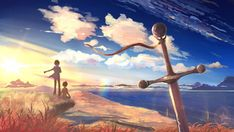 Wallpaper 5 centimeters per second, takaki tohno, beach