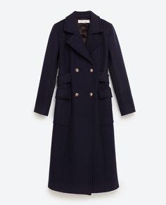 Image 8 of GREY BURGUNDY CHECK COAT from Zara