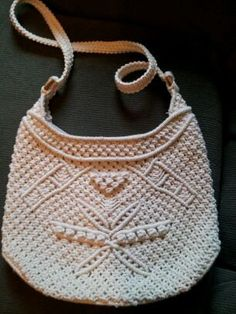 Natural Vintage Never Used Macrame Purse by TheWickedQuilter, $15.00
