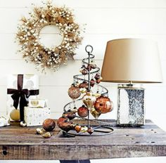 This photo isn't great quality but still, the decor is very lovely and SIMPLE!   :o)               ... http://www.modernhomeinteriordesign.com/wp-content/uploads/2013/12/Christmas-Decorating-Ideas-for-Small-Spaces-10-600x591.jpg