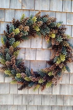 XXL Pinecone Wreath  rustic browns greens tans by scarletsmile