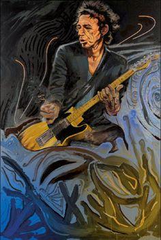 The Blue Smoke Series - Keith 26x17.5