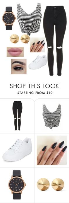 """""""Untitled #62"""" by ditaneub ❤ liked on Polyvore featuring beauty, Topshop, New Look, Marc Jacobs and Eddie Borgo"""