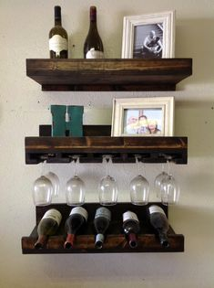 Rustic Luxe Tiered Wine Rack- Set Of 3