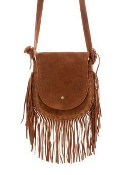 Camel Fringe Shoulder Bag