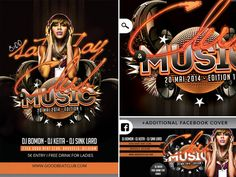 Club And Music Good Beat Flyer Facebook Cover