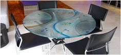The most popular is to use the glass to protect the surface of a table, desk, or a coffee table.
