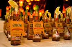 Beer Bottle Escort Cards - Mexican, Beach or BBQ Theme.Not having a seating plan but could use this idea for something else. Wedding Table, Wedding Reception, Our Wedding, Dream Wedding, Wedding Ideas, Wedding Stuff, Wedding Seating, Wedding Planning, Wedding Favors
