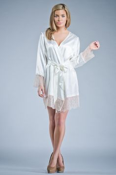 "Elegant Bridesmaid ""Embroidered"" Robe."