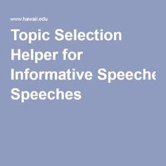 Interesting Informative Speech Topics