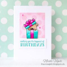 card critters bear gift MFT Beary Special Birthday Die-namics #mftstamps - Frau Vögeli: beary birthday #3