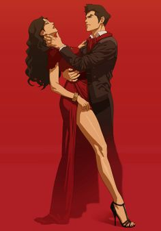 Asami and Mako. She doesn't need that jerk!, but she looks so damn fabulous! He was a jurk to her