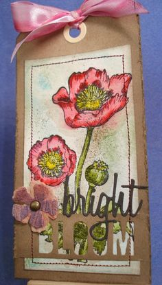 My stuff, my life: Bright Bloom (Tim Holtz' 12 Tags of 2015 - April)...