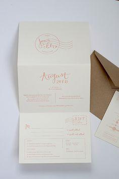 love this destination invite by Goodheart Design