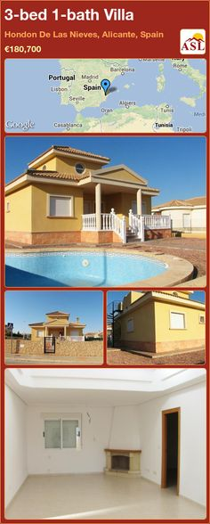 3-bed 1-bath Villa in Hondon De Las Nieves, Alicante, Spain ►€180,700 #PropertyForSaleInSpain