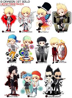 G dragon - the whole total description of g dragon in one picture! What can I say he's known for his looks and voice!