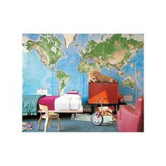 Write on map mural playrooms bedrooms and kids rooms world wall laminated mural map 88 h x 13 w 199 gumiabroncs Gallery