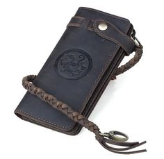 Men's Dark Brown Crazy Horse Leather Wallet Vintage Style Wallet 33776 - For Sale Check more at http://shipperscentral.com/wp/product/mens-dark-brown-crazy-horse-leather-wallet-vintage-style-wallet-33776-for-sale/