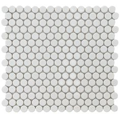 Merola Tile Hudson Penny Round White 12 in. x 12-1/4 in. x 5 mm Porcelain Mosaic Floor and Wall Tile (10.2 sq. ft. / case)-FKOMPR11 - The Home Depot