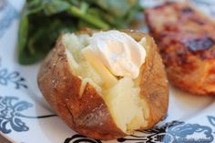 The Perfect Baked Potato  (can use margarita salt in place of kosher)