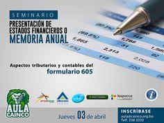 CAINCO - Seminario: Presentación de estados financieros o memoria anual