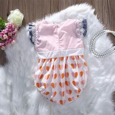 Summer Newborn Toddler Baby Kids Girls striped heart lace sleeveless bow back Romper Jumpsuit Outfits Sunsuit Clothes-in Rompers from Mother & Kids on Aliexpress.com | Alibaba Group