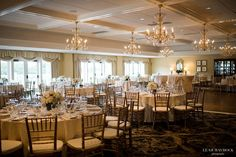 Wellesley Country Club wedding reception