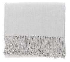 Light Grey Silk Blanket Throw