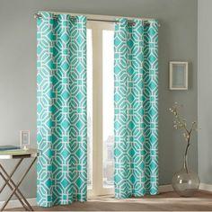 Intelligent Design Bedding Sets Maci Blue 84 Panel Window Curtain