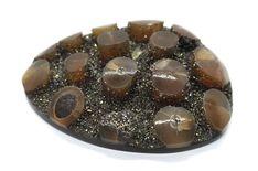 Pyrite geode with Belemnite, ID mm Ebay