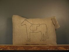 Year of the Horse ~ neutral horse pillow WE like it.