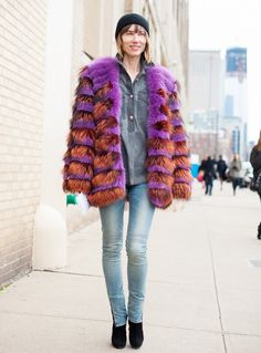 DIY inspiration: Knee stitches  Your Denim Street Style Handbook: 52 Looks To Get You Inspired via @WhoWhatWear