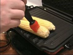 How to make GRILLED CORN on a George Foreman Grill