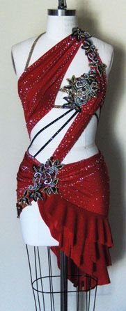 Dangerous Beauty   Zhanna Kens Custom Made Ballroom Dresses, Latin Dance Costumes and Ice Skating Dresses