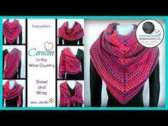Coraline in the Wine Country Shawl and Wrap crochet pattern • Simply Collectible