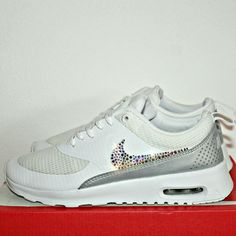 Nike air max Thea txt SWAROVSKI  Info.  pugiottom@gmail.com #crystal #nike #airmax #white #shoes #snekers #swarovski #nikestrass