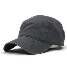 Washed Cotton Twill Five Panel Adjustable Camper Caps a660a4c86a03