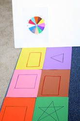 Activities: Play the Shape Twister Game  It's a fun game that's like Twister... with a twist.