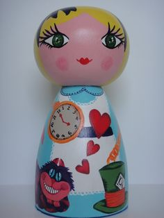 Cute wooden doll