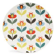 Assiette plate en faïence D 25 cm LUCETTE - Vendu par 6