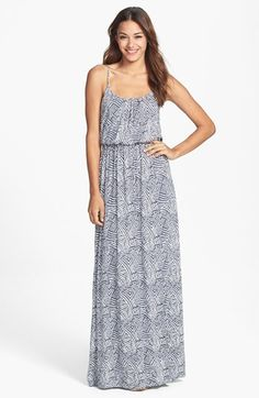 FELICITY & COCO 'Ezri' Print Maxi Dress (Regular & Petite) (Nordstrom Exclusive) available at #Nordstrom