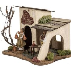 Christmas Nativity Scene, Christmas Scenes, Christmas Villages, Noel Christmas, Christmas Crafts, Christmas Decorations, Nativity Stable, Medieval Houses, Free To Use Images